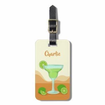 Beach Themed Margarita custom text luggage tag