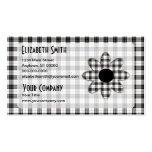 Margarita de la tela escocesa de tartán de tarjetas de visita