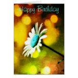 Margarita de la turquesa en tarjeta de cumpleaños