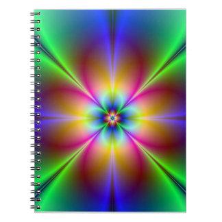Margarita de neón colorida libro de apuntes