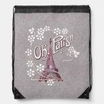 Margarita de París Francia de la torre Eiffel del  Mochilas