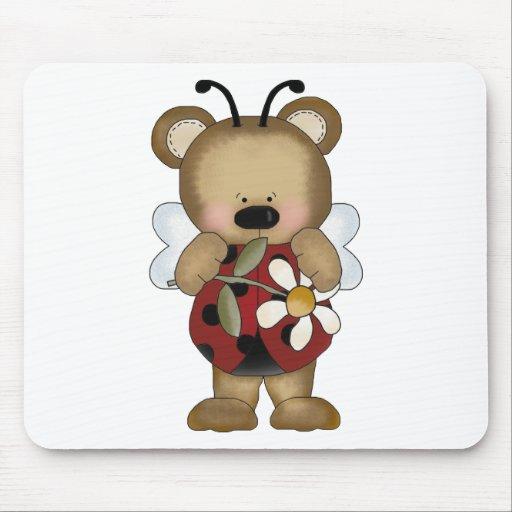 Margarita de señora Bug Baby Bear With Alfombrilla De Raton
