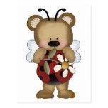 Margarita de señora Bug Baby Bear With Tarjetas Postales