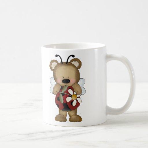 Margarita de señora Bug Baby Bear With Taza De Café