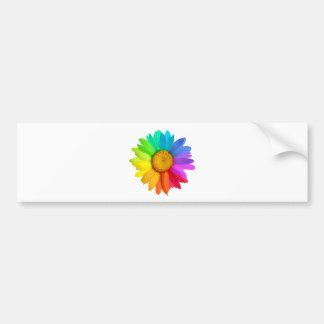 Margarita del arco iris pegatina de parachoque