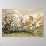 Margarita del carro del huevo del polluelo de Pasc Poster