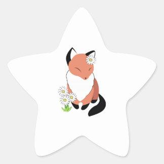 Margarita del Fox Calcomanía Forma De Estrella Personalizada