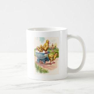 Margarita del paisaje de la iglesia del carro del  taza de café