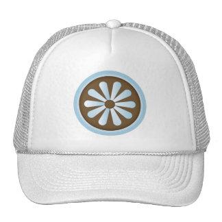 Margarita del pastel del marrón azul gorras de camionero