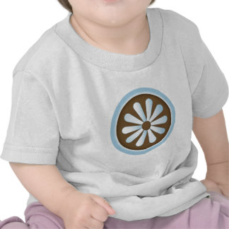 Margarita del pastel del marrón azul camiseta