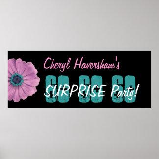 Margarita del rosa de la fiesta de cumpleaños de póster