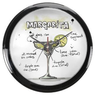 Margarita Drink Recipe Design Aquarium Clock