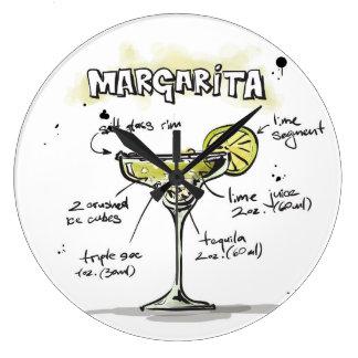 Margarita Drink Recipe Design Wallclock