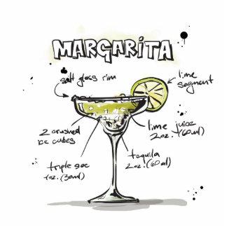 Margarita Drink Recipe Design Cutout