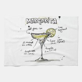 Margarita Drink Recipe Design Hand Towel