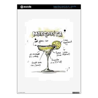 Margarita Drink Recipe Design iPad 3 Skins