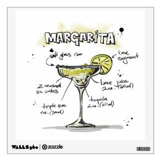 Margarita Drink Recipe Design Wall Sticker