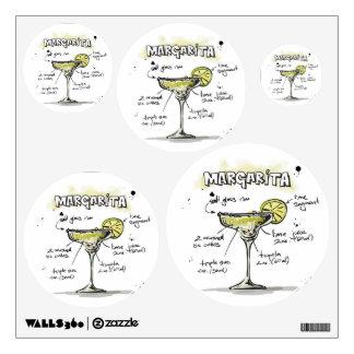 Margarita Drink Recipe Design Wall Stickers