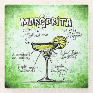 Margarita Drink Recipe Glass Coaster