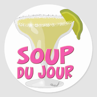 Margarita Du Jour Classic Round Sticker