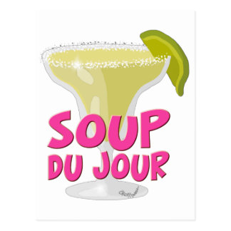 Margarita Du Jour Postcard