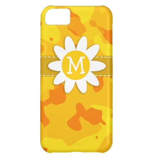 Margarita en Camo amarillo ambarino; Camuflaje Funda Para iPhone 5C