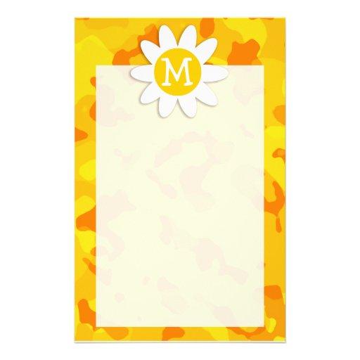 Margarita en Camo amarillo ambarino; Camuflaje Papelería Personalizada