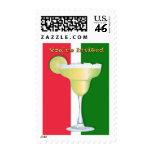 Margarita en colores mexicanos le invitan sellos