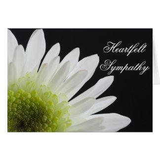 Margarita en condolencia negra tarjeta de felicitación