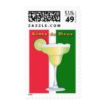 Margarita en mexicano colorea Cinco de Mayo Sellos