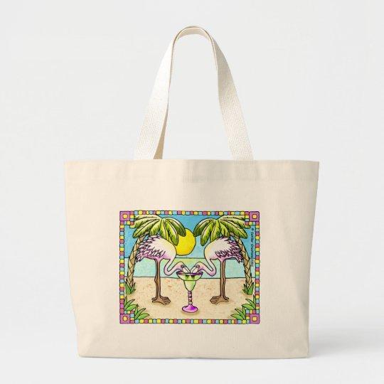 Margarita Flamingo Large Tote Bag