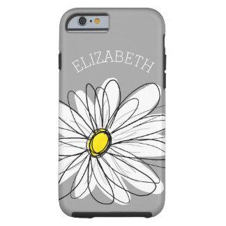 Margarita floral de moda con nombre de encargo funda para iPhone 6 tough