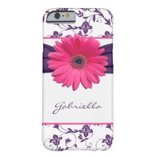 Margarita floral púrpura de Gerber del rosa del Funda Para iPhone 6 Barely There