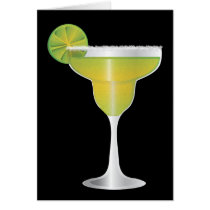 Margarita Funny Happy Birthday w/ a Grain of Salt Card