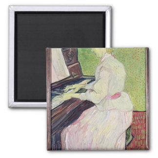 Margarita Gachet en el piano, 1890 Imán Cuadrado