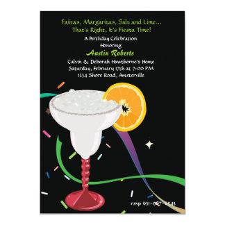 """Margarita Glass Party Invitation 5"""" X 7"""" Invitation Card"""
