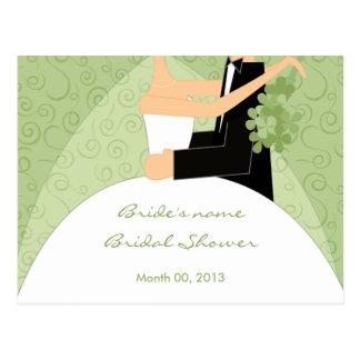 Margarita Green Bridal Shower Advice Cards Postcard