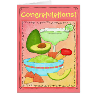 Margarita Guacamole Congratulations Celebrate Greeting Card