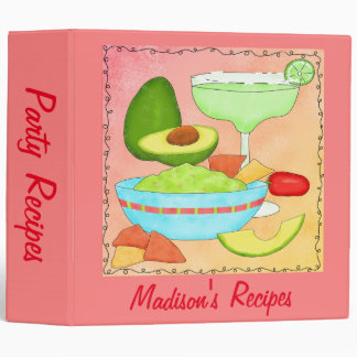 Margarita Guacamole Name Personalized Recipe Album 3 Ring Binder