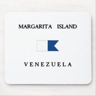 Margarita Island Venezuela Alpha Dive Flag Mousepads