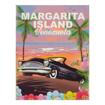 Beach Themed Margarita Island - Venezuela travel poster