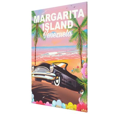 Beach Themed Margarita Island - Venezuela travel poster Canvas Print