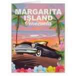 Margarita Island - Venezuela travel poster Card
