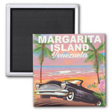 Beach Themed Margarita Island - Venezuela travel poster Magnet