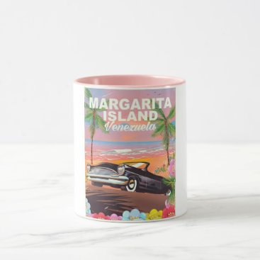 Beach Themed Margarita Island - Venezuela travel poster Mug