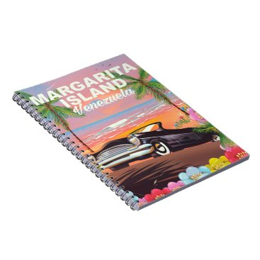 Beach Themed Margarita Island - Venezuela travel poster Notebook