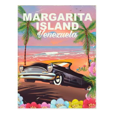 Beach Themed Margarita Island - Venezuela travel poster Postcard