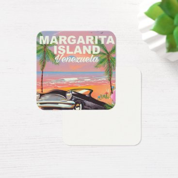 Beach Themed Margarita Island - Venezuela travel poster Square Business Card