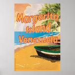 Margarita Island Vintage travel poster print
