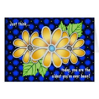 Margarita Jeweled tarjeta de cumpleaños